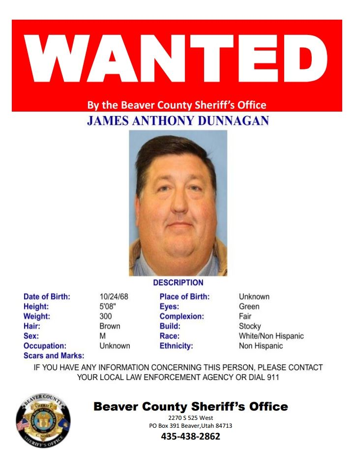 Wanted Poster for James Dunnagan